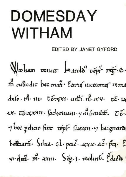 Cover of Domesday Witham