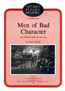 Cover of Men of Bad Character: the Witham Fires of the 1820s
