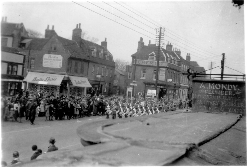 Part Of Victory Parade Showing Band Returning In Newland